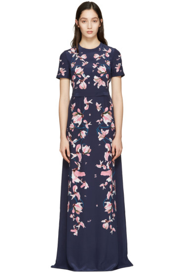 Erdem - Navy Samira Dress