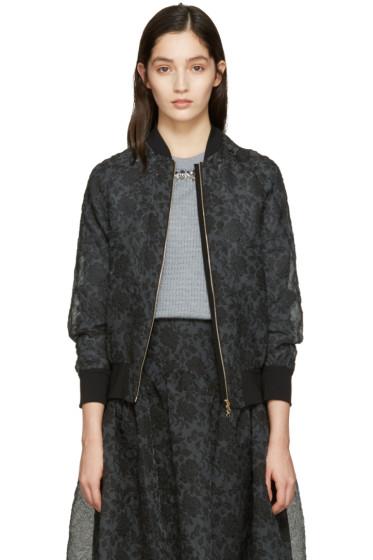 Erdem - Black Danni Bomber Jacket