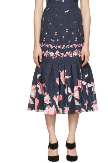 Erdem - Navy Abbie Skirt