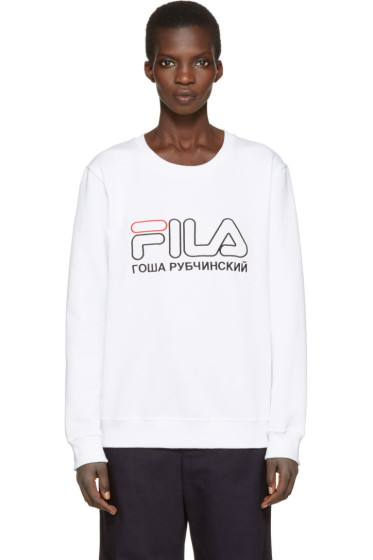 Gosha Rubchinskiy - White Fila Edition Pullover