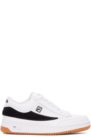 Gosha Rubchinskiy - White & Black Fila Edition T-1 Mid-Top Sneakers