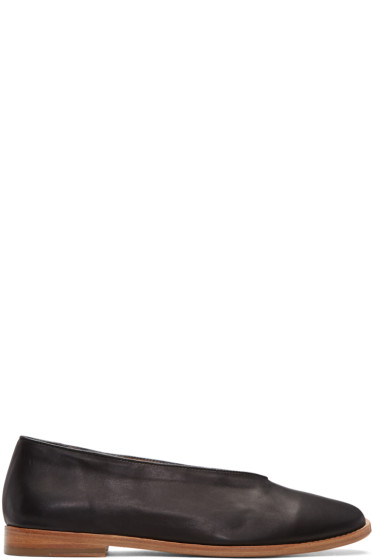 Lemaire - Black Leather Loafers
