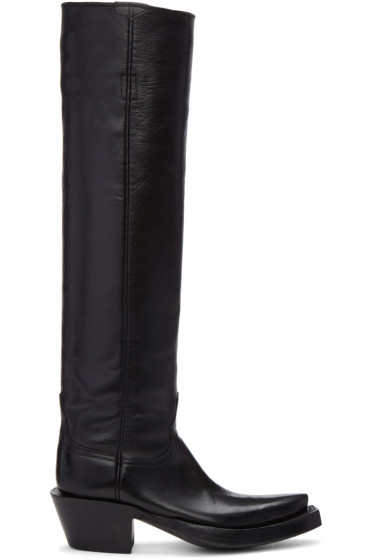 Vetements - Black Lucchese Edition Texan Boots