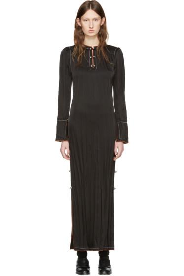Loewe - Black Crinkle Dress