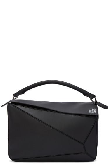 Loewe - Black Large Puzzle Bag
