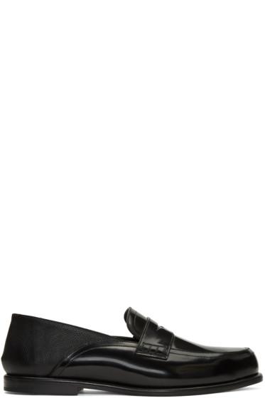 Loewe - Black Patent Slip-On Loafers