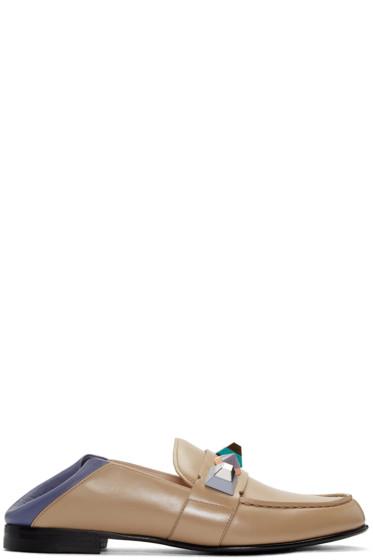 Fendi - Brown Rainbow Loafers