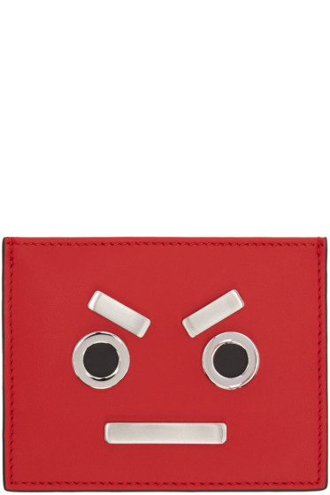 Fendi - Red 'Fendi Faces' Card Holder