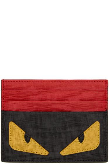 Fendi - Black Bag Bug Card Holder