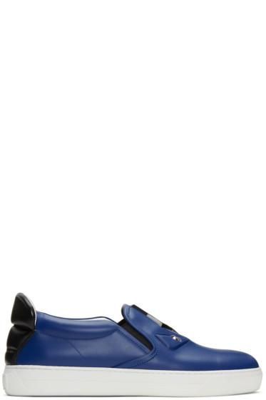 Fendi - Blue Bag Bug Slip-On Sneakers