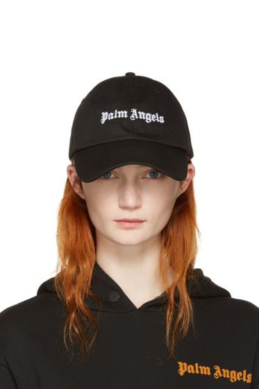 Palm Angels - Black Vintage Logo Cap