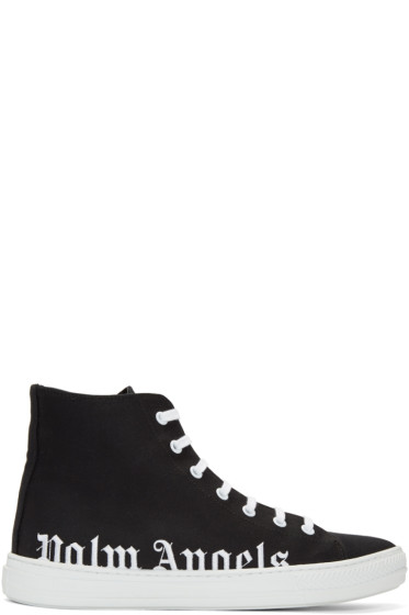 Palm Angels - Black Logo High-Top Sneakers