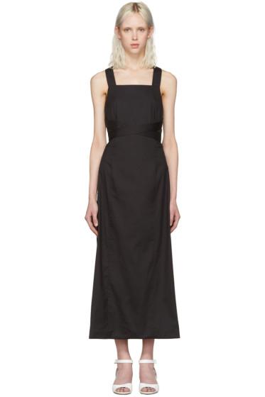 Rosetta Getty - Black Apron Wrap Dress