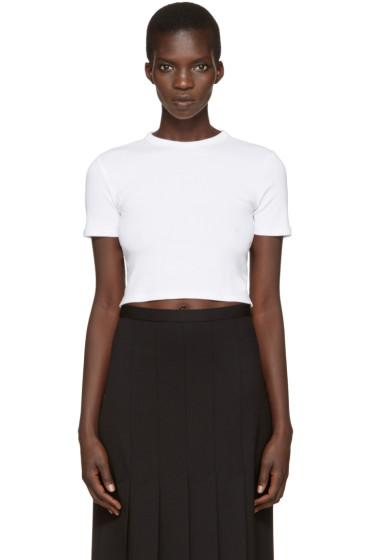Rosetta Getty - White Cropped T-Shirt