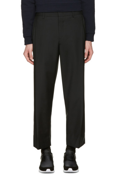 Wooyoungmi - Black Wide-Leg Cropped Trousers