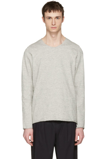 Attachment - Grey Raw Finish Pullover