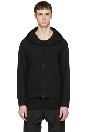 Attachment - Black Waterproof Hooded Zip-Up Pullover