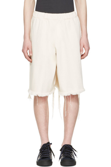 Marques Almeida - Off-White Denim Track Shorts