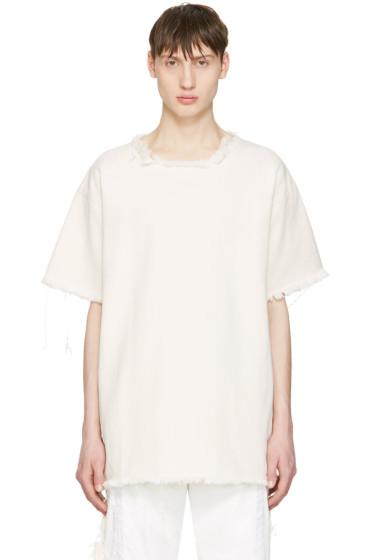 Marques Almeida - Off-White Denim T-Shirt