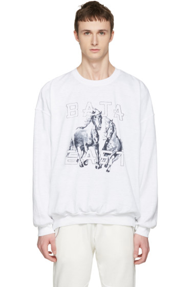 Baja East - White Be Sweatshirt