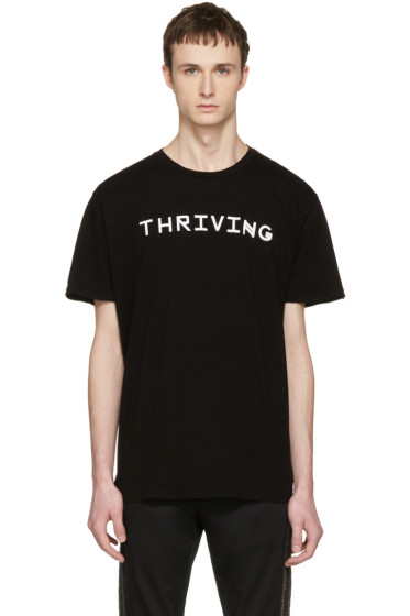 Baja East - Black 'Thriving' T-Shirt