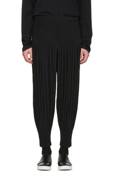 Homme Plissé Issey Miyake - Black Pleated Lounge Pants