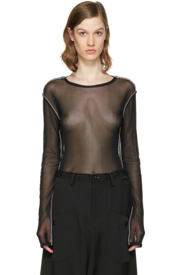 Y's - Black Tulle Pullover