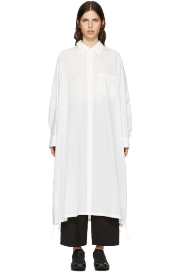 Y's - White Dolman Shirt Dress