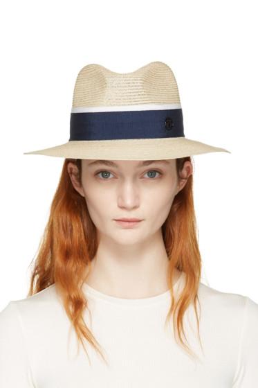Maison Michel - Beige Straw Henrietta Panama Hat