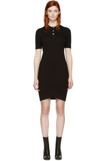 Courrèges - Black Classic Button Dress