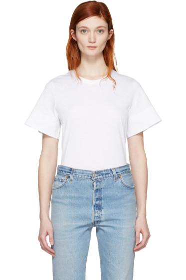 Courrèges - White Crewneck T-Shirt