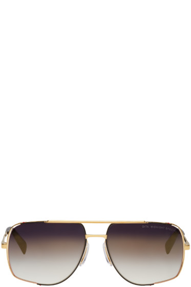Dita - Gold Midnight Special Aviator Sunglasses
