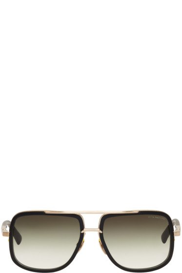 Dita - Black Mach One Aviator Sunglasses