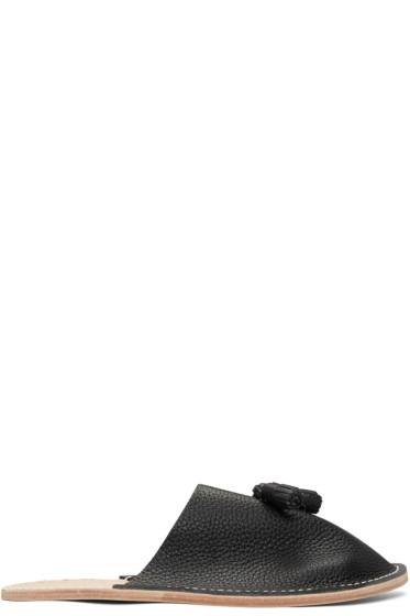 Hender Scheme - Black Tassel Slipper Flats