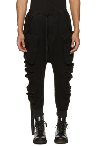 Unravel - Black Parachute Cargo Pants