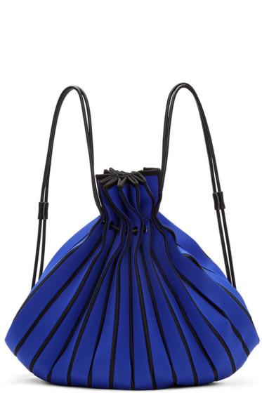 Issey Miyake - Blue Linear Knit Rucksack