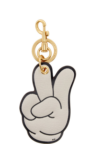 Anya Hindmarch - Ivory Victory Keychain