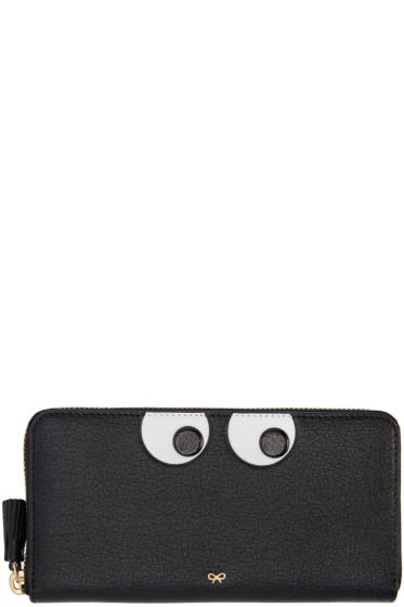 Anya Hindmarch - Black Large Eyes Wallet