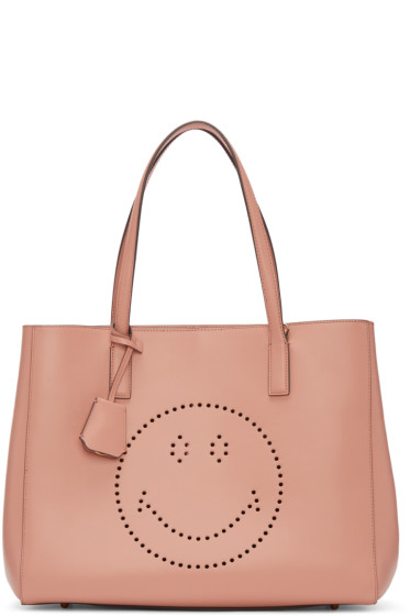 Anya Hindmarch - Pink Ebury Smiley Shopper Tote