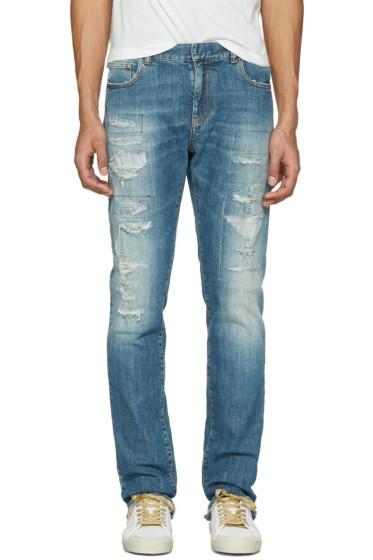 Faith Connexion - Indigo Distressed New Slim Jeans