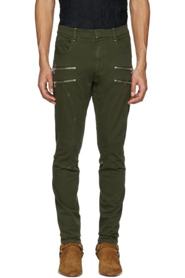 Faith Connexion - Green Zipper Trousers