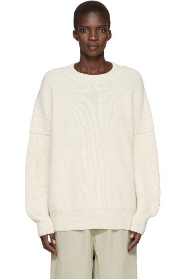 Lauren Manoogian - Off-White Alpaca Fisherman Sweater