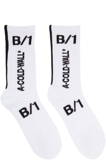 A-Cold-Wall* - White Invisible Logo Socks
