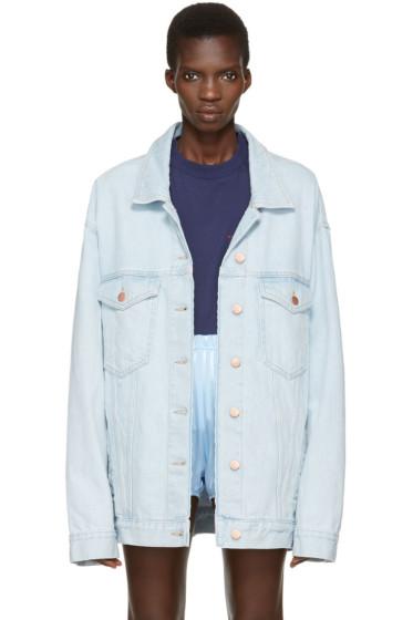 Martine Rose - Blue Denim Oversized Jacket