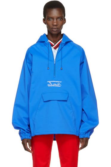 Martine Rose - Blue Oversized Wind Cheater Jacket