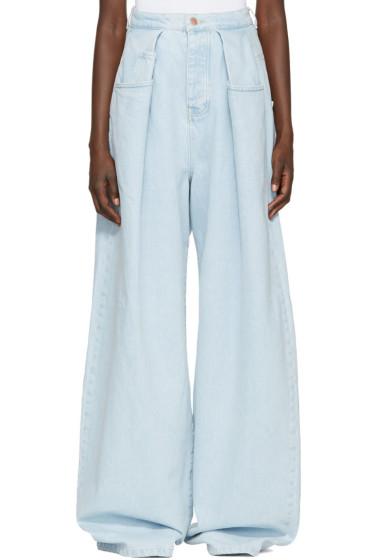 Martine Rose - Blue Fold Wide-Leg Jeans