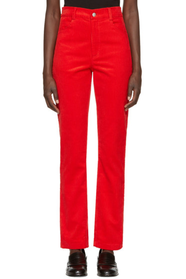 Martine Rose - Red Corduroy Trousers