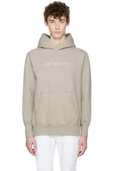 Aime Leon Dore - SSENSE Exclusive Grey Logo Hoodie