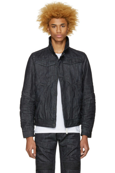 Raw Research - Indigo Denim Deline 3D Slim Jacket