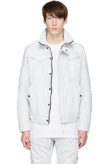 Raw Research - Blue Denim Deline 3D Slim Jacket